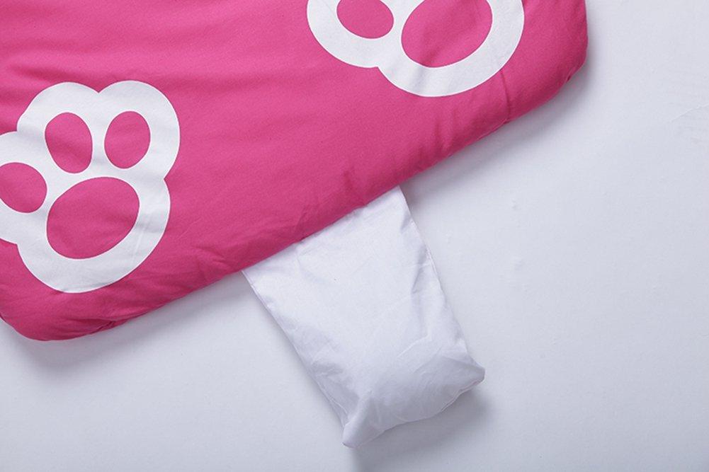 Lestore Kids Boy and Girl Big Cartoon Sleeping Bag Bunting Bags 140cm*60cm (D-pink cat) SD160702