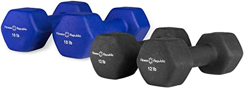 Fitness Republic Neoprene Dumbbell Pair