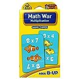 SCHOOL ZONE PUBLISHING MATH WAR MULTIPLICATION GAME CARDS (Set of 24)