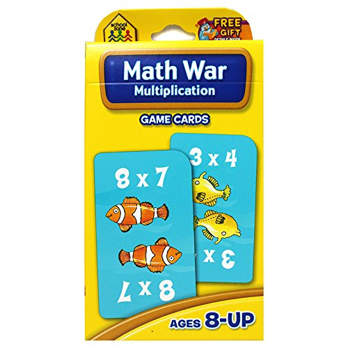 SCHOOL ZONE PUBLISHING MATH WAR MULTIPLICATION GAME CARDS (Set of 24)