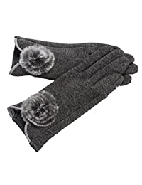 The New Women's Winter Gloves Touch Screen Not Fall Down,3