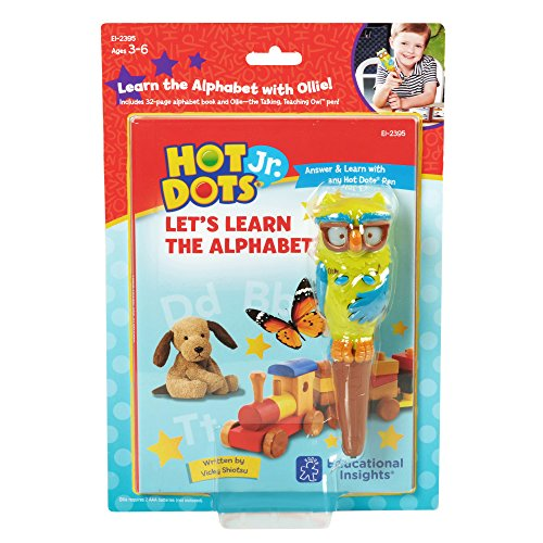 Educational Insights Hot Dots Jr. Lets Learn the Alphabet Interactive Book & Pen Set