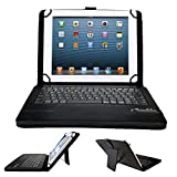 Alcatel One Touch Pop 7 LTE Keyboard case, IVSO®Touch Pop 7 LTE case with keyboard Ultra-Thin High Quality DETACHABLE Bluetooth Keyboard Stand Cover for Alcatel One Touch Pop 7 LTE/9015 Tablet(Black)