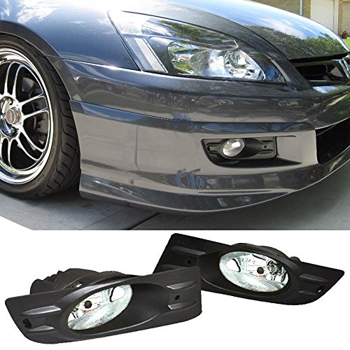 Fog Lights Fits 2006-2007 HONDA ACCORD | Factory Style Clear lensFog Lamps Left Right Pairs by IKON MOTORSPORTS Accord Factory Style Fog Lights
