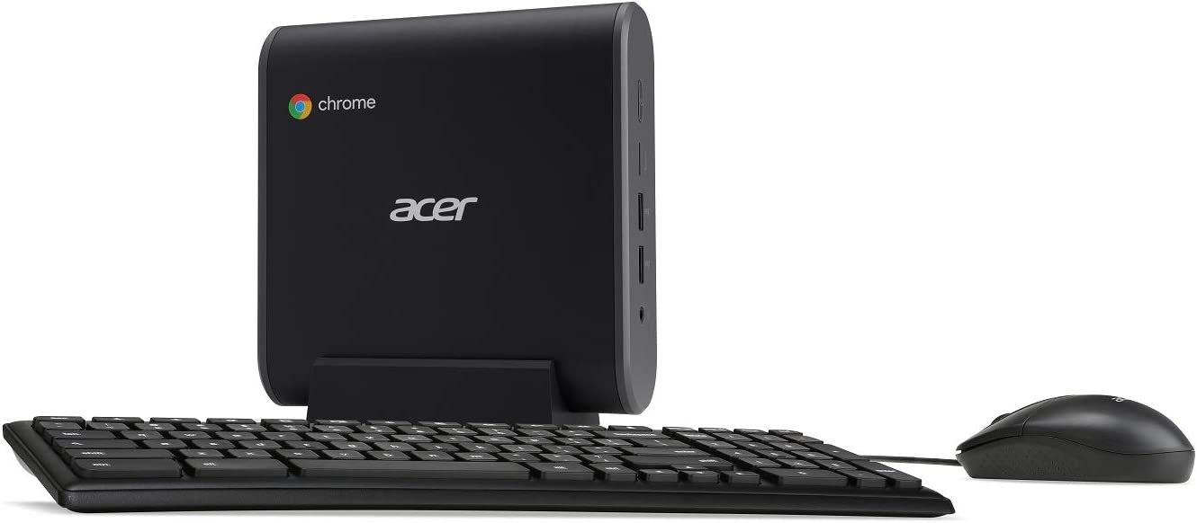 Acer Chromebox CXI3-i38GKM2 Mini PC, Intel Core i3-8130U Processor, 8GB DDR4 Memory, 64GB M.2 SSD, 802.11ac WiFi 5, USB Type-C, Chrome OS, Keyboard and Mouse Included