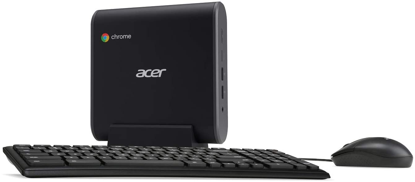 Acer Chromebox, Intel Celeron 3867U Processor, 4GB DDR4, 32GB SSD, Keyboard, Mouse, Chrome, CXI3-4GKM4