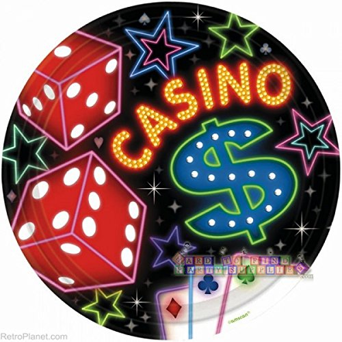 Casino Night Large Paper Plates (8ct) -