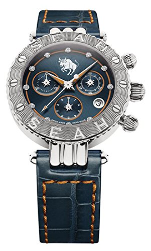 Seah-Galaxy-Zodiac-sign-Taurus-38mm-Stainless-Steel-Swiss-Luxury-watch