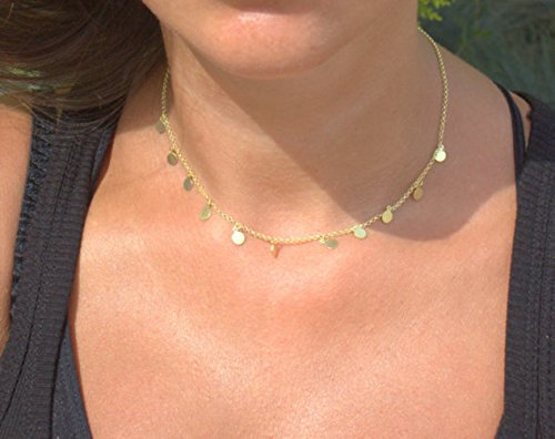 delivery-in-3-days-by-dhl-fatima-necklace-gold-disc-necklacewedding-necklace-bridesmaid-necklace