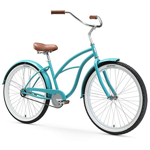 sixthreezero Women's Single Speed Beach Cruiser Bicycle, Bre