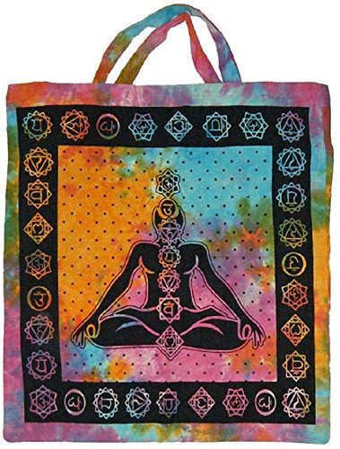 Bag Tote Tie India in Seven Hand Chakras Dye Made 1wg6vq
