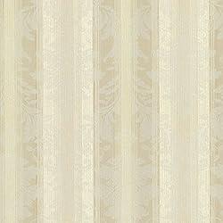 Chesapeake SRC01783 Rangeley New Avalon Stripe Wallpaper, Beige