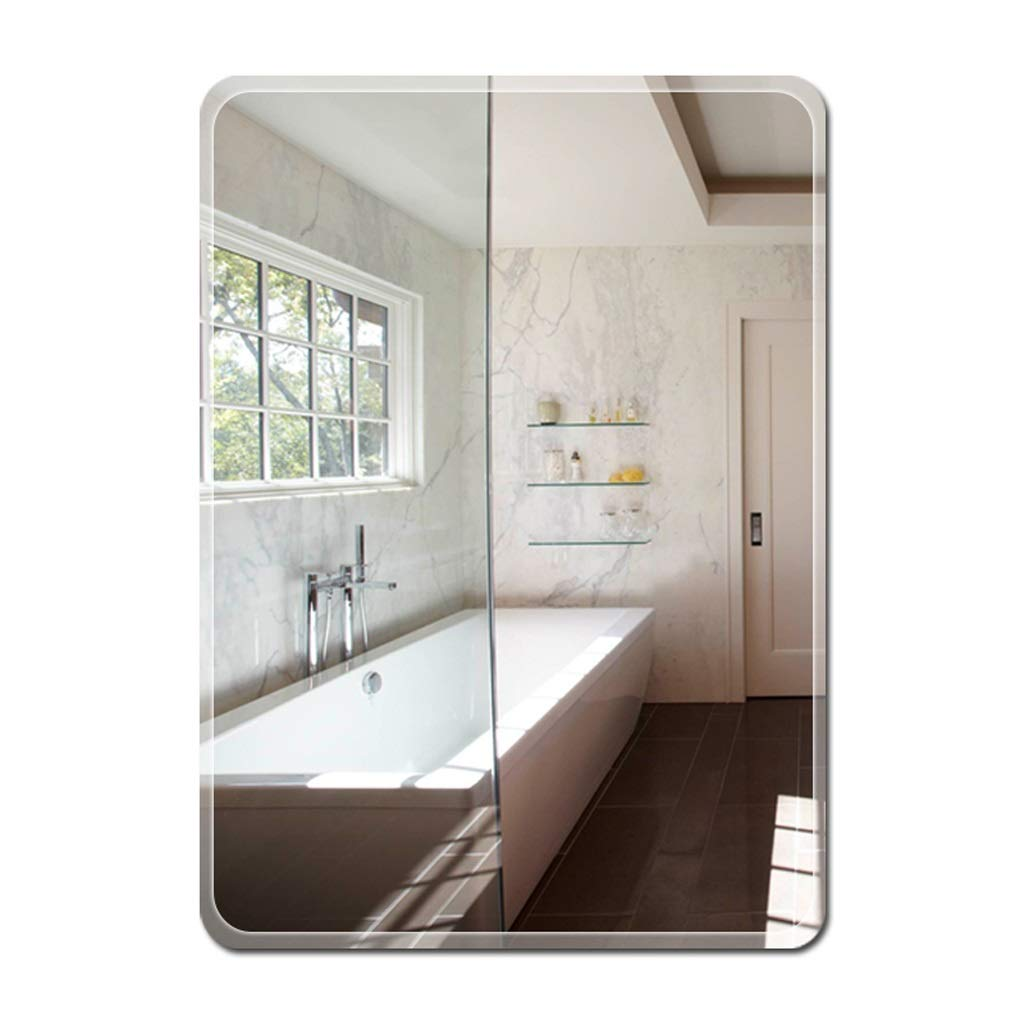 Bathroom Mirror,Frameless Rectangle Vanity Wall Mounted Mirror,Paste or Wall Hanging Fixing Kit,Modern Bevelled Toilet Washroom Dressing Decor (Size : 15.7in23.6in)