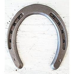 New Steel Horseshoes - Plain Shoe Size 1 -Sand Blasted- Heritage Forge - 40 Shoes