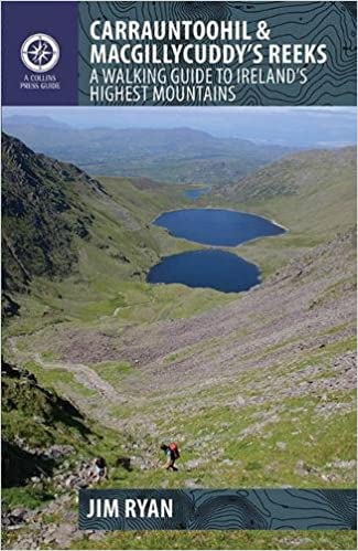 Map Of Ireland With Mountains.Carrauntoohil Macgillycuddy S Reeks A Walking Guide To Ireland S