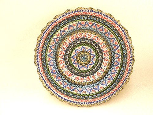 Handmade Turkish Traditional Ceramic Plates - Lace Collection (7.5