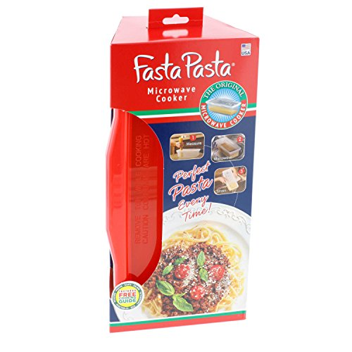 Fasta Pasta Microwave Pasta Cooker - The Original (Red) - No Mess, Sticking or Waiting for Boil by Fasta Pasta (Image #2)