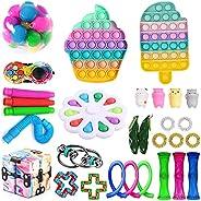 Novo conjunto de brinquedos sensoriais, Fidget Toys Pack para adultos e crianças, Push Bubble Pop, Fidget Brin
