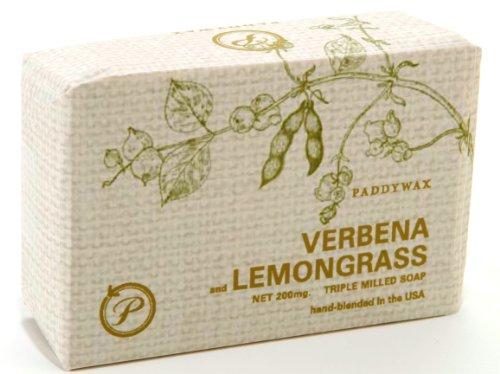 Paddywax Eco Green 7-Ounce Triple-Milled Shea Butter Soap, Verbena and - Shea Refreshing Butter Verbena