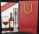 Z&Z Luxury Wine Accessories Gift Set: Electric Wine Opener, Vacuum Wine Stopper, Wine Pourer, Foil Cutter (Batteries, Multi-color) (Grey)