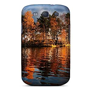 Brand New S3 Defender Case For Galaxy (beautiful Autumn Trees On The Lake)