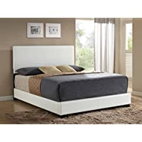 ACME Ireland III White Faux Leather Queen Bed