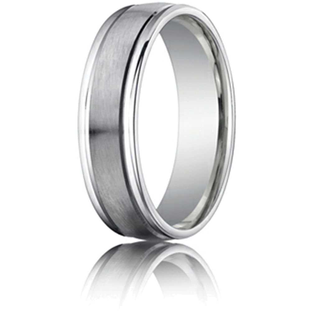 6mm Comfort Fit Wedding Band/Ring 14 kt White Gold Size 7