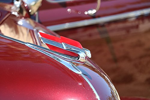 Home Comforts Peel-n-Stick Poster of Cadillac Flying Goddess Vintage Car Hood Ornament Poster 24x16 Adhesive Sticker Poster Print -