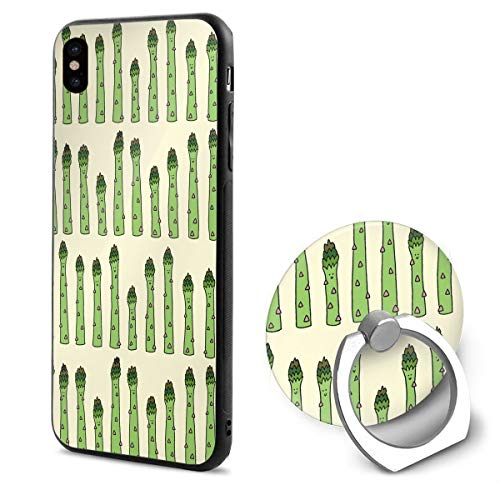 Slender Asparagus TPU Case Ring Bracket Compatible iPhone X Cover 5.8 Inch