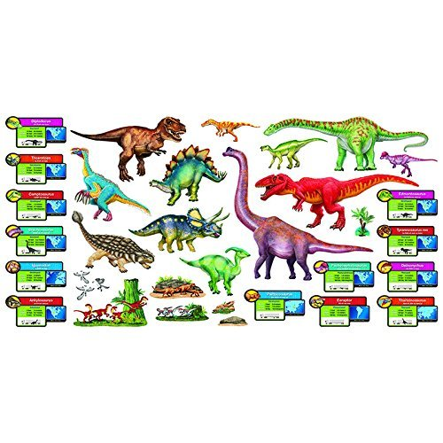 Trend Enterprises Discovering Dinosaurs Bulletin Board Set (T-8294) Size: 50 Pieces Color: Discovering Dinosaurs, Model: T-8294, Office/School Supply (Dinosaur Bulletin Boards)