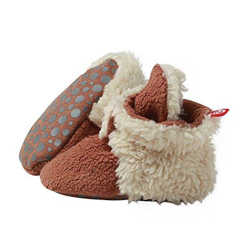 Zutano Unisex Baby Fleece w/Furry Baby Booties w/Grippers,24M,Chocolate Furry