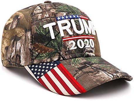 SYQY Gorra de Beisbol Donald Trump 2020 Gorra Camuflaje Bandera de ...