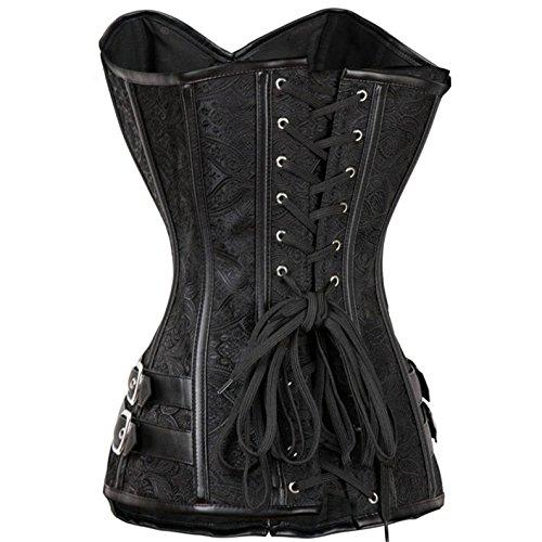 VOLALO Corsetto di Cincher della vita di Goth Steampunk Halloween Burlesque delle donne