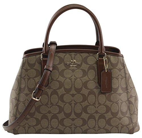 Coach Women's Signature Small Margot Carryal Hand Bag, Style F58310, Im Khaki Saddle by Coach
