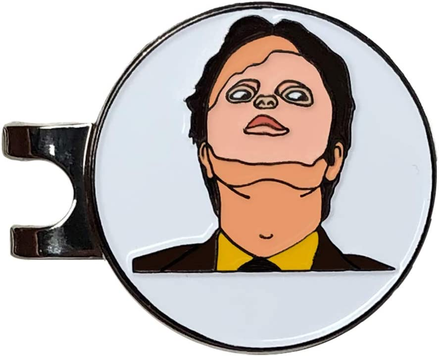 Balanced Co. Dwight Schrute Golf Hat Clip with Enamel Magnetic Ball Marker