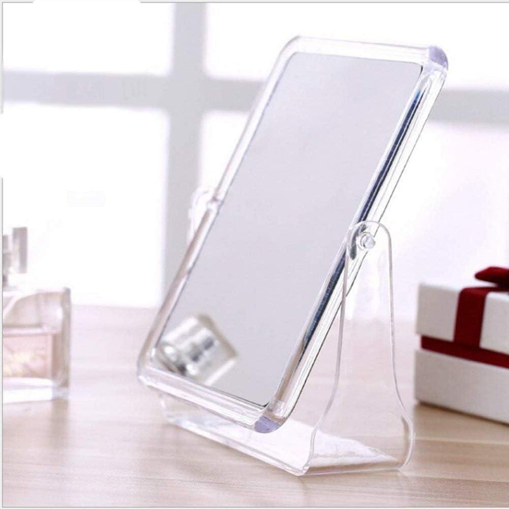 Large, Transparent NNuodekeU Double-Sided Swivel Vanity Makeup Mirror