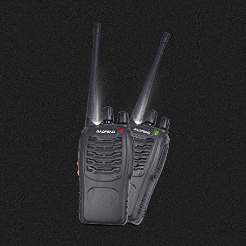Baofeng Walkie Talkies Rechargable Long Range Walkie Talkie for Adults Two Way Radio Set 16 Channel 5 km Range 400-470MHz Handheld Walky Talky Transceiver with Batteries Earpiece Pack of 4