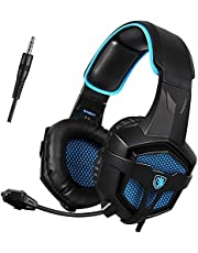 [Xbox one Gaming Headset, PS4 Headset] Sades R3 Gaming Headphones Over Ear Noise-isolating, Stereo Bass with Microphone, Volume Control for Multi-Platform New Xbox One PC PS4
