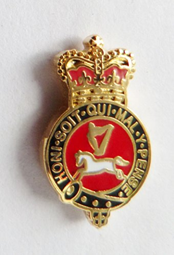 British Army Cavalry Regiments - British Army Queen's Own Hussars Cavalry Regiment Pin Badge - MOD Approved