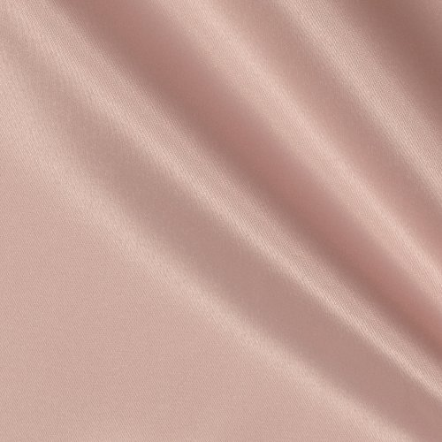 Ben Textiles Mi Amor Duchess Satin Blush Pink Fabric by The Yard, Blush Pink