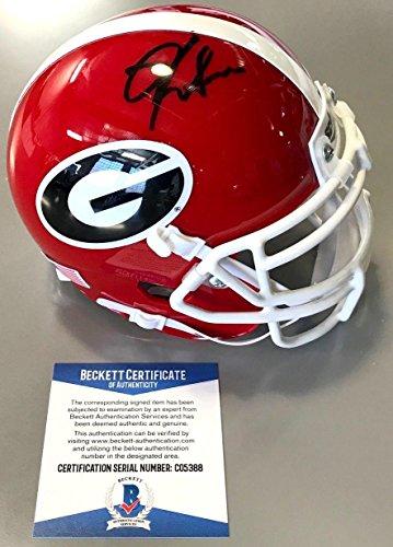 - Kirby Smart Signed Georgia Bulldogs Schutt Mini Helmet Beckett Coa C05388 - Beckett Authentication