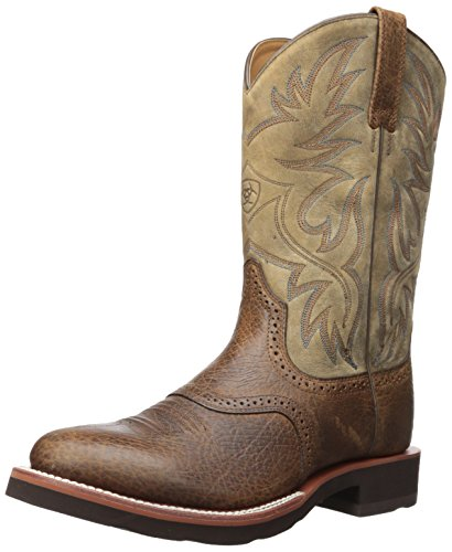 - Ariat Men's Heritage Crepe Western Boot, Earth/Brown Bomber, 14 D US