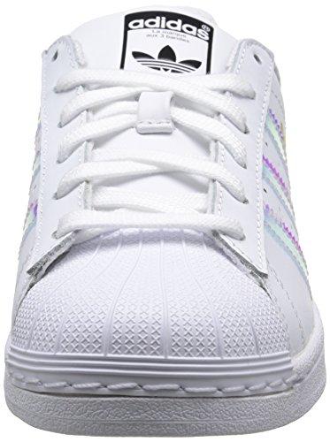 adidas Superstar - Zapatillas de deporte Unisex Niños Blanco - Blanc (Ftwr White/Ftwr White/Metallic Silver Sld)
