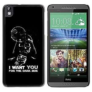 LASTONE PHONE CASE / Slim Protector Hard Shell Cover Case for HTC DESIRE 816 / Dark Side Quote Angel Devil Art Villain Alien by ruishername