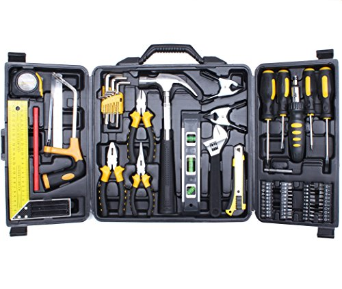 Cartman 69 Piece Tool Set - General Household Hand Tool Kit with Plastic Toolbox Storage Case