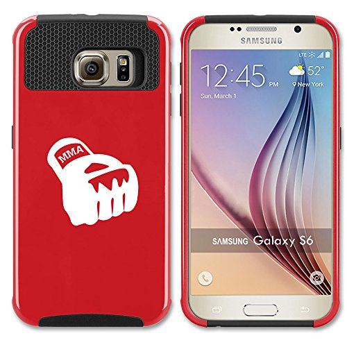 For Samsung Galaxy (S7 Edge) Shockproof Impact Hard Soft Case Cover MMA Boxing Glove (Red)