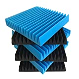 Beefoam Acoustic Panels (6-Pack) Sound-Proofing Foam Baffling | Enhanced Wedges for Noise Cancelling & Sound Absorbing Coverage | Studio, Stage, Theater, Vocal Booth