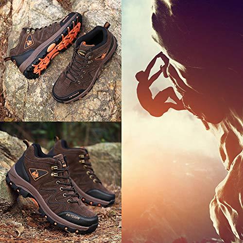 Sportive Marrone Bigu 02 Outdoor Resistente Arrampicata Escursionismo High Stivali Scarpe Uomo Sneakers All'aperto Da Antickid All'acqua Trekking qx8Z4q