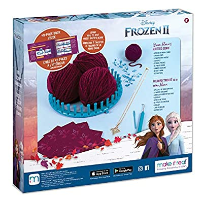 Make It Real – Disney Frozen 2 Queen Iduna's Knitted Scarf . DIY Arts and Crafts Kit Guides Kids to Crochet Queen Iduna's Shawl with Acrylic Yarn and Magical Frozen 2 Embellishments: Toys & Games