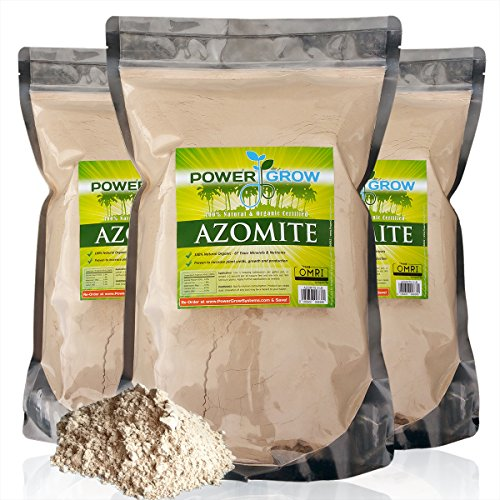 AZOMITE - 20 Pounds Bulk Bag of Certified Organic Trace Mineral Fertilizer by PowerGrow
